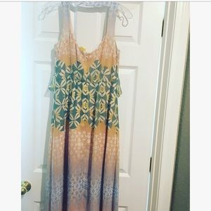 NWT🌸Jessica Simpson Tie Front /Back Maxi Dress 4